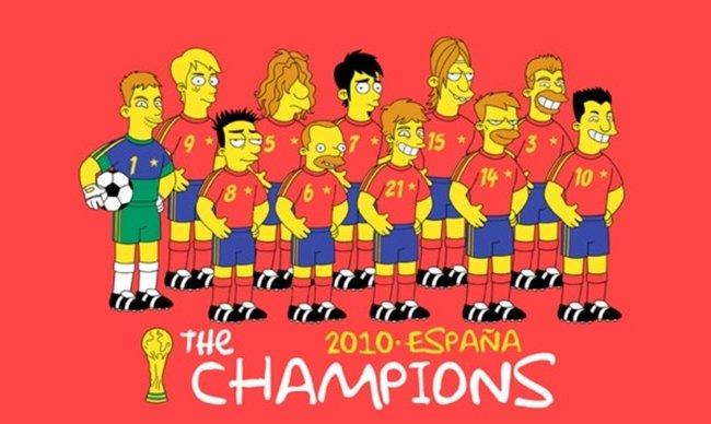 La Selección Española al estilo Los Simpson