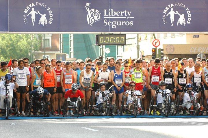 Salida Carrera Liberty Seguros 2011