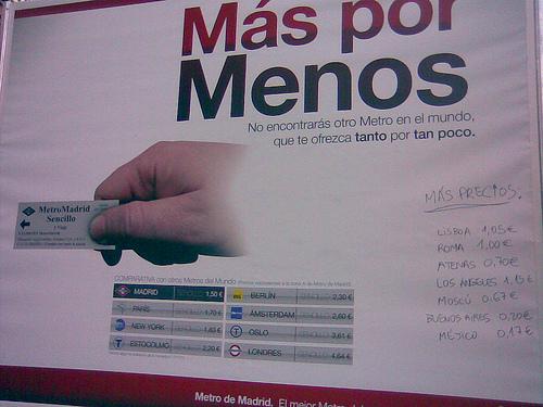 Metro de Madrid - Más por menos - Otras ciudades