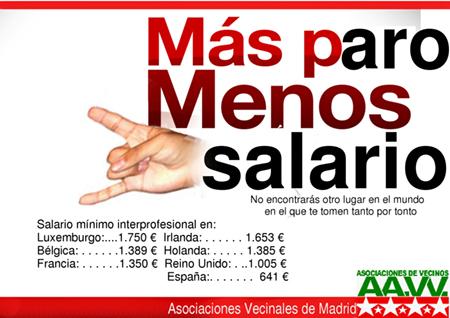 Campaña Metro de Madrid - Más paro, Menos salario
