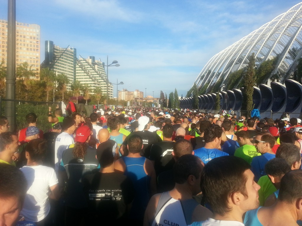 Salida Maraton de Valencia 2012